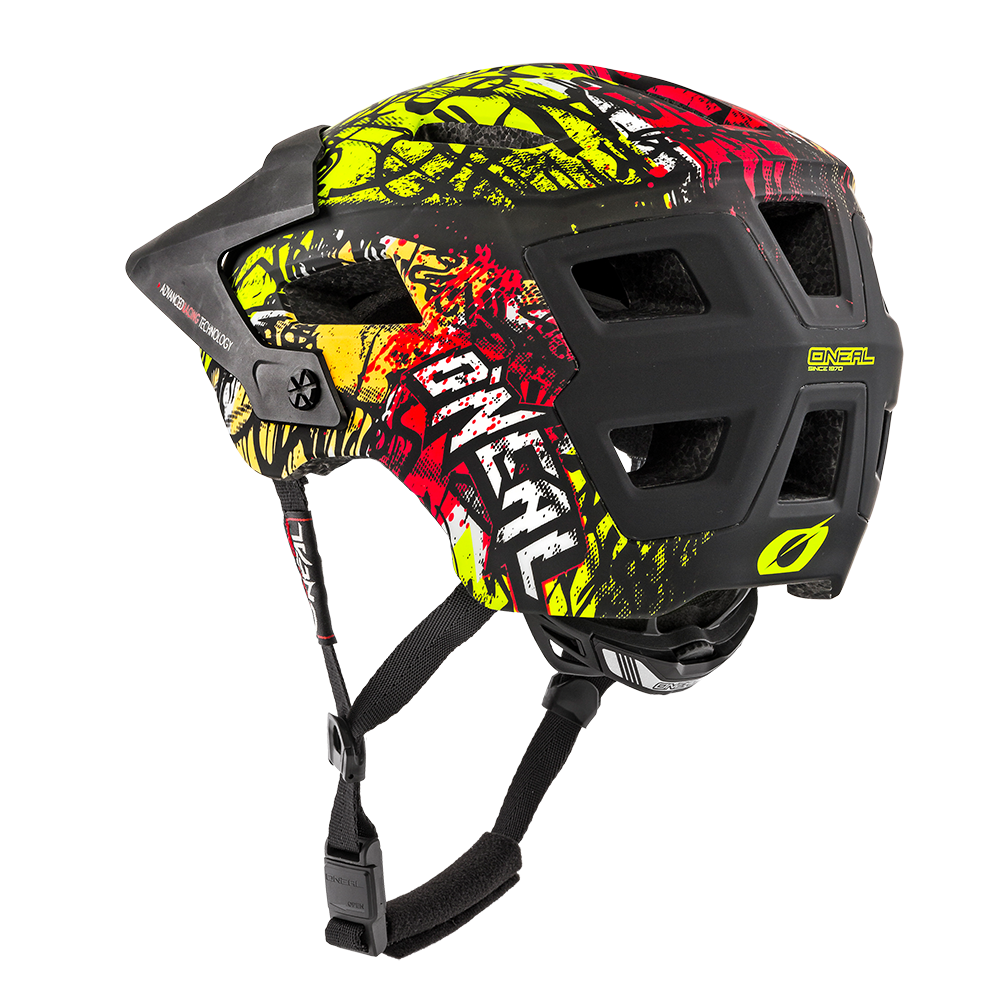 O`NEAL DEFENDER 2.0 HELMET VANDAL ORANGE/NEON YELLOW | BikesAndRoses.gr